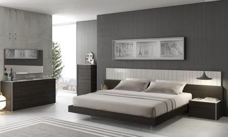 J&M Porto Bedroom Set in Wenge and Light Grey Finish