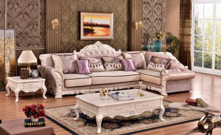 Arturo 696 Sectional Sofa Traditional Pearl Finish