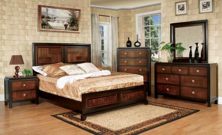 Patra Bedroom Set in Acacia And Walnut