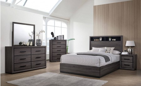 Conwy Bedroom Set in Gray