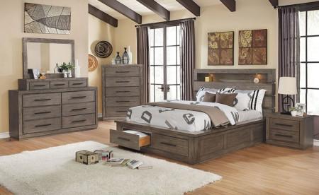 Oakburn Traditional Bedroom Set in Dark Gray