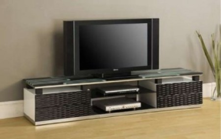 Wicker Pattern Design TV Stand Wall Unit