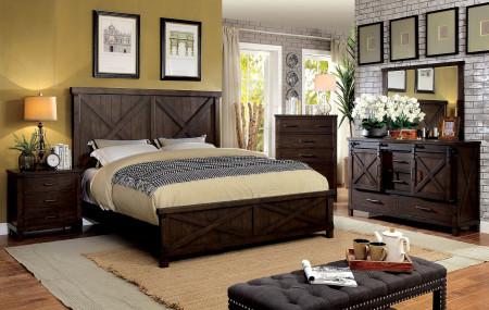 Bianca Bedroom Set in Dark Walnut