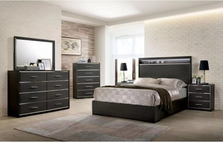 Camryn Traditional Bedroom Set in Warm Gray