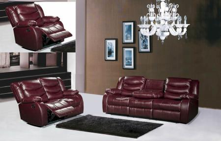 Dark Brown Living Room Set 644BR Meridian Furniture