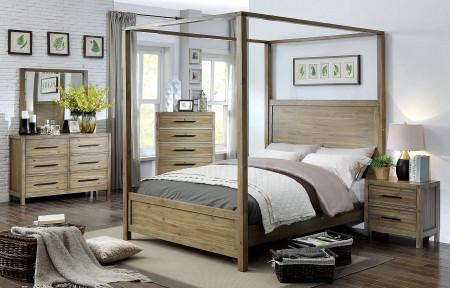 Garland Canopy Bedroom Set in Light Oak Finish