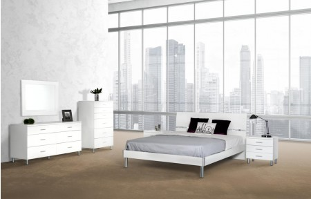 Modrest Bravo Contemporary White Italian Bedroom Set