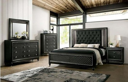 Demtria Traditional Bedroom Set in Metallic Gray
