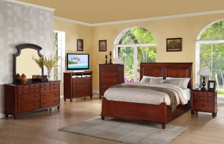 Wood Finish Bedroom Set G5900B Glory Furniture