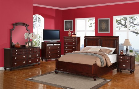 Cappuccino Solid Wood Bedroom Set G5950B Glory Furniture