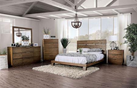 Tolna Modern Bedroom Set in Walnut