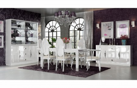 Carmen Dining Room Set in White by Franco Furniture