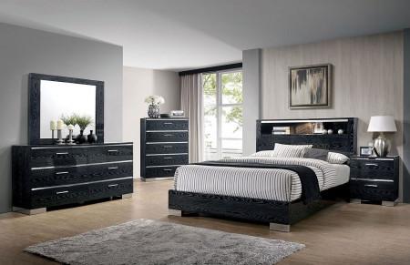 Malte Modern Bedroom Set in Black Finish