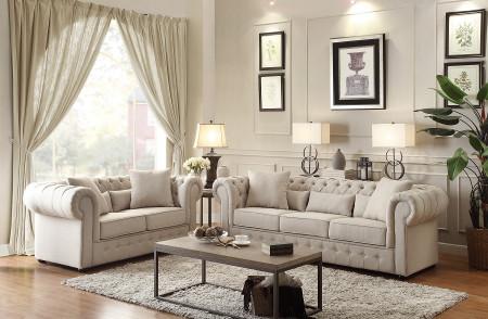 Homelegance Savonburg Living Room Set in Fabric