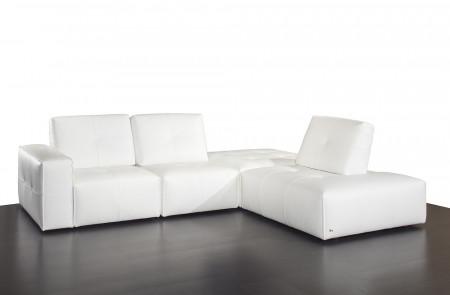Ibiza Build Your Own Modular Italian White Leather Sectional by Nicoletti
