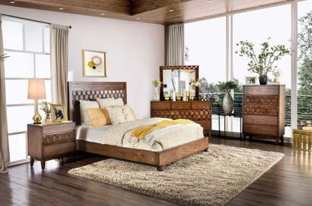 Kallisto Bedroom Set in Chestnut Brown