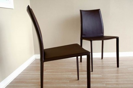 Rockford Contemporary Brown Leather Dining Chair