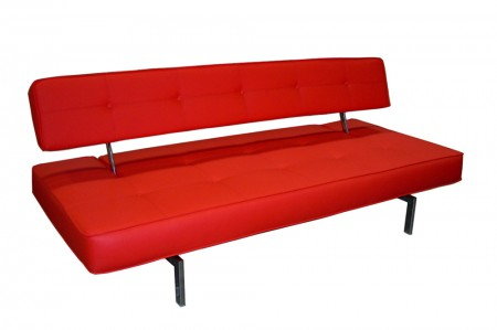 K18 Red Leather Modern Comfortable Sofa Bed | J&M Furniture