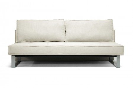 582 Contemporary Sofa Bed in Beige Linen Fabric