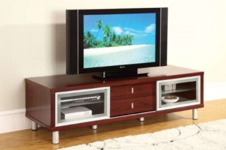 720 Contemporary Cherry TV Stand