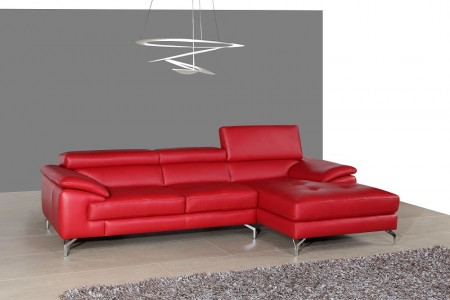Red Leather Sectional Sofa A973B
