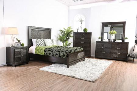 Argyros Modern Bedroom Set in Espresso