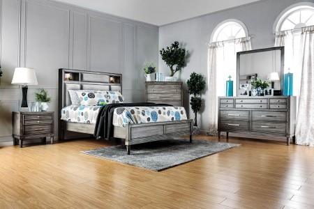 Daphne Modern Bedroom Set in Gray Finish