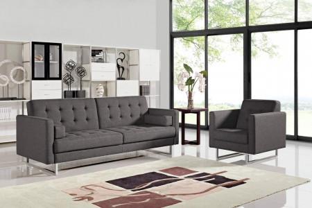 Divani Casa Bauxite Modern Sofa Bed in Grey Fabric