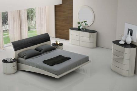 Amsterdam Modern Bedroom Set in Grey