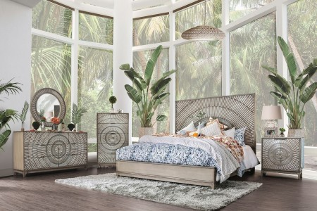 Kamalah Bedroom Set in Antique Gray