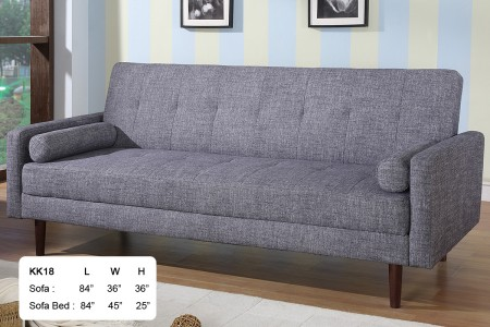 KK18-G At Home USA Modern Grey Fabric Sofa Bed Sleeper
