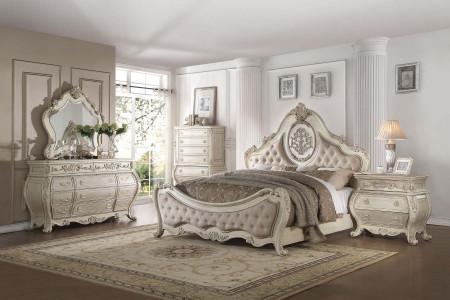 Ragenardus Antique White Bedroom Set