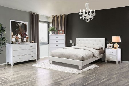Velen Modern Bedroom Set in White Finish