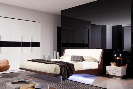Volterra Italian Bedroom Set in Brown Oak Finish