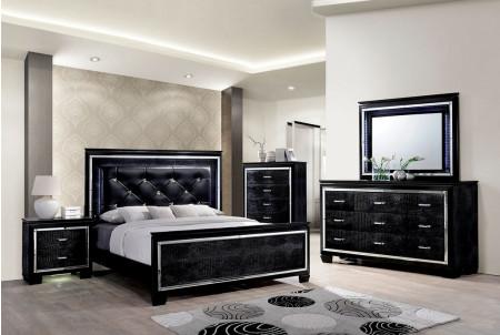 Bellanova Modern Bedroom Set in Black