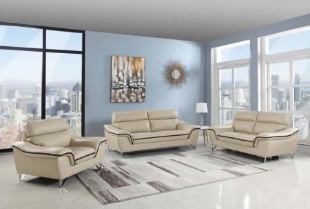 168 Living Room Set in Beige Color