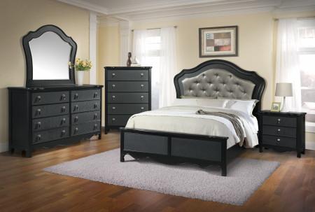 B662 Panel Bedroom Set in Black Finish