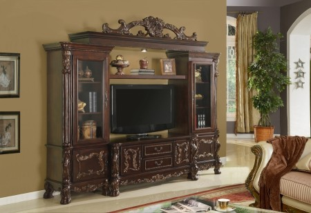 Grande Walnut Solid Wood Traditional Home Theater Furniture