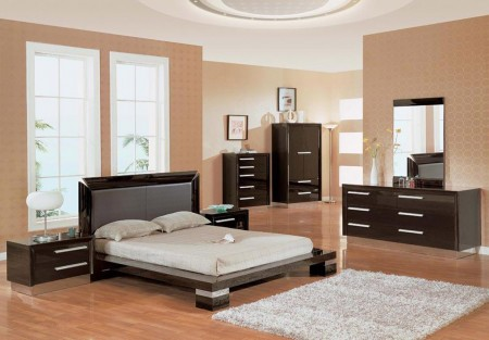 B99 Bedroom Set in Wenge Finish by Global Furniture