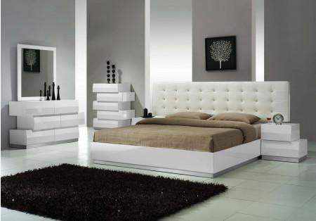 Milan Modern Bedroom Set in White