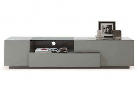 TV015 Large TV Stand in Grey High Gloss Finish