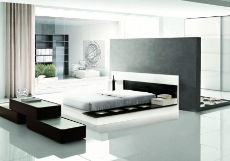 Modrest Impera Italian Bedroom Set in Two Tone Lacquer