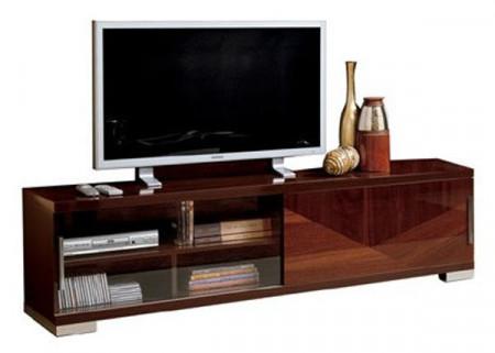 Capri Brown Lacquer Modern Italian TV Stand