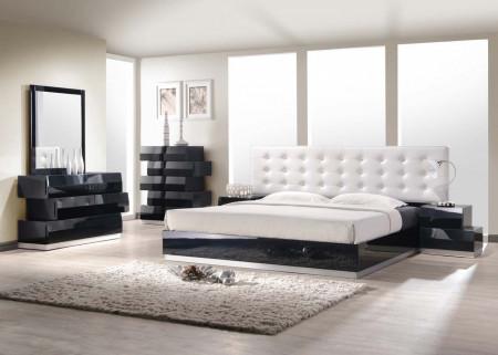 Milan Modern Bedroom Set in Black