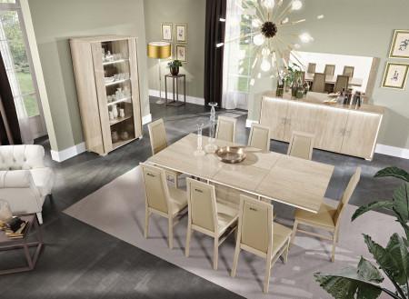 Dover Italian Dining Room Set in Beige
