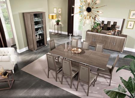 Dover Italian Dining Room Set in Brown