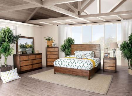 Covilha Bedroom Set in Antique Brown