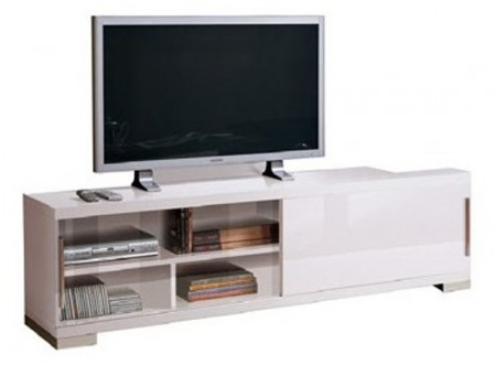 Capri White Glossy Modern Italian TV Stand