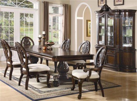 Coaster Tabitha Dining Room Set in Deep Cherry Finish