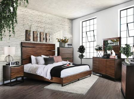 Fulton Bedroom Set in Dark Oak and Dark Walnut
